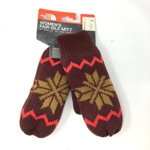 The North Face Womens Fair Isle Knit Mittens XS S